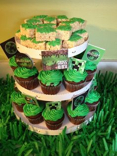 Awesome treats at a Minecraft Birthday Party!  See more party ideas at CatchMyParty!