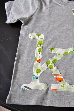 Easy 20 minute applique letters.
