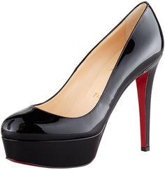 Christian Louboutin Bianca Almond-Toe Platform Red Sole Pump on shopstyle.com