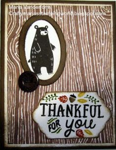 Crafty Maria's Stamping World: Thankful for You - Sketch Frenzy Friday