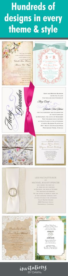 Browse hundreds of wedding invitations and get inspired. Every theme and style under the sun!