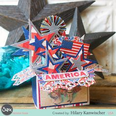 Patriotic Stars Card in a Box