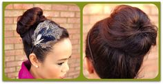 Sock bun. For when you want your hair to be more... bigger.