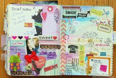 new Art Journal pages by Olya Schmidt, via Behance