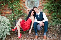 Awesome engagement picture. I LOVE the red!!!!