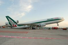 Oops... Alitalia Cargo McDonnell Douglas MD-11-SF EI-UPI c/n 48428  lsd from Pegasus 31/8/2005 - Named Giacomo Puccini - Returned to lessor 01/2009 Scrapped 12/2011