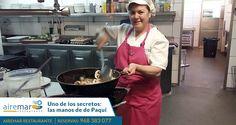 Empezamos la semana desvelando uno de los secretos de Airemar Restaurante: Las manos  de nuestra Paqui....