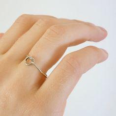 Vintage Knot Ring/ Minimalist Silver. etsy.com