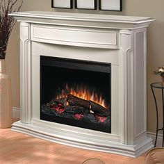 dimplex addison dfp69139w electric fireplace mantle with firebox white by dimplex - Electric Fireplace With Mantel