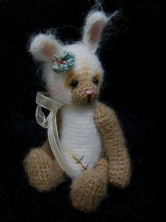 Miniature Crochet THREAD ARTist Vintage Bear Friend -  Bunny Rabbit Pattern PDF 7.50