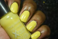 "Sally Hansen Xtreme Wear ""Mellow Yellow"" Sally Hansen, Mellow Yellow, Swatch, Nail Polish, Nail Art, Nails, Finger Nails, Ongles, Nail Arts"