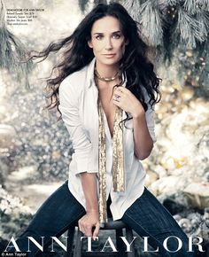 Demi Moore looking lovely for the Ann Taylor catalog