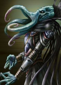 Mind Flayer The original I wanna eat your brains. Fantasy Rpg, Fantasy Artwork, Dark Fantasy, Cthulhu, O Kraken, Aliens, Mind Flayer, Dnd Art, Dnd Monsters