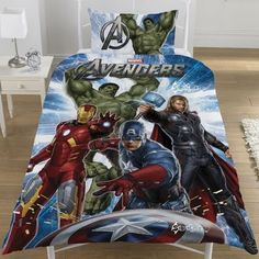 Official Marvel Avengers Single Duvet Bed Set