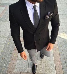 How about this? #dapperworld #suit #designer #jacket #blazer #tie #pocketsquare #hanky #smart #sleek #gentleman #lifestyle #mensfashion #menstyle #menfashion #trendy #businessman #beard #dapper
