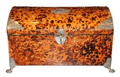 A 19th Century English Tortoiseshell Jewel Box No. 4621 - C. Mariani Antiques, Restoration & Custom, San Francisco, CA.