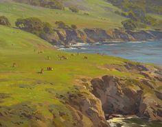 Rocky point Cattle by Jesse Powell Oil ~ 24 x 30