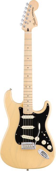 "Fender Deluxe Strat. This guitar is part of Fender's new Deluxe line of instruments, all of which come with upgraded features, offering an innovative contrast to the company's many ""vintage"" spec guitars. These guitars are meant for those who want familiar looking instruments that can do more than their conventional counterparts."