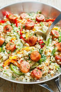 cauliflower fried rice: A nutritious blend of flavors for a Healthy dinner ready in 20 minutes. eatwell101