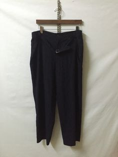 A personal favourite from my Etsy shop https://www.etsy.com/listing/294157879/ys-yohji-yamamoto-laine-wool-belt-pants