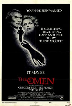 """The Omen"" is a 1976 American suspense horror film directed by Richard Donner. It is the first film in The Omen series and was scripted by David Seltzer, who also wrote the novel. Horror Movie Posters, Best Horror Movies, Classic Horror Movies, Original Movie Posters, Cinema Posters, Scary Movies, Film Posters, Classic Movies, Good Movies"