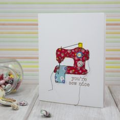 Fabric applique sewing machine card