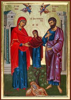 Holy Family, Son Of God, Orthodox Icons, First Love, Saints, Painting, Jesus Christ, Greek, Spirit