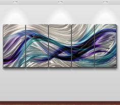 Aluminium Metal** Modern Abstract Wall Art Original painting Large Contemporary