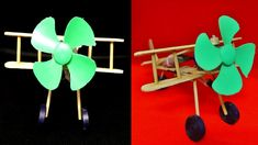 How To Make Aeroplane With DC motor - [ diy wooden plane ] Diy Recycle, Recycling, Wooden Plane, Popsicle Sticks, Wooden Diy, Popsicles, Airplane, Aircraft, Electric