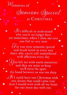 memorial poems for loved ones at christmas | Someone Is Missing At ...