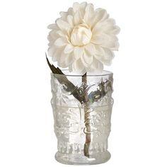 Decorative glass vase ❤ liked on Polyvore featuring home, home decor, vases, glass vase and glass home decor