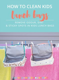 It's best practice for the kids to unpack their school bag as soon as they get home from school. However there can be times that this doesn't happen, it's left overnight, over the weekend, or worst yet till the last day of school holidays (eew).  If you are hit with a bad smelling, sticky or dirty lunchbag, here are my tips below on how to clean insulated lunch bags and remove odours.