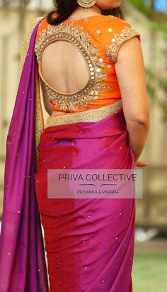 Top Latest and Trendy Blouse Designs For Saree - - Want to get that stylish look in Saree. Take a look at these stunning and trending blouse designs photos for ultimate style. Wedding Saree Blouse Designs, Silk Saree Blouse Designs, Fancy Blouse Designs, Blouse Neck Designs, Latest Blouse Designs, Wedding Blouses, Raw Denim, Denim Look, Amy Jackson