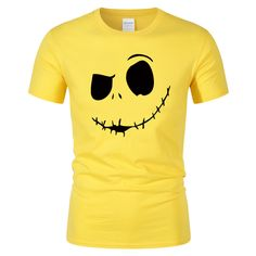 Men's Cotton T-Shirt with Funny Face Print - Lotys Shop Mens Cotton T Shirts, Funny Faces, Spring Summer, Pret, Mens Tops, Clothes, Fashion, Man Women, Woman Clothing