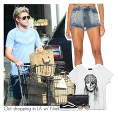 """""""Out shopping in LA w/ Niall"""" by amberamelia-123 ❤ liked on Polyvore featuring BLANKNYC, Sloane, Vans and Christian Dior"""