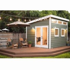 Purely Meredith saved to Future Home Design He Shed, She Shed — All the Things You Can Do With Backyard Sheds #patiodecor #backyards #backyardideas