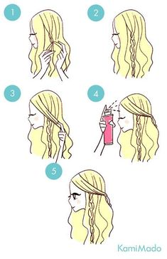 Hair cut and turned Foreigner wind .- dutt # but # # # # # Quick Hairstyles, Pretty Hairstyles, Braided Hairstyles, Ladies Hairstyles, Drawn Hairstyles, Hair Looks, Best Makeup Products, Hair Makeup, Makeup Hairstyle