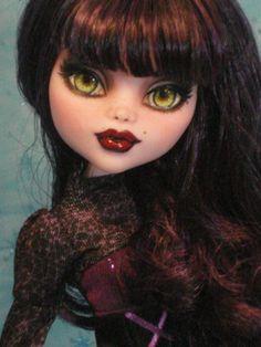~ Emilia ~ OOAK Monster High Draculaura Repaint ~ by Bordello ~