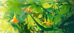 Lush by Monica Ahanonu /// Tropical lighting study of a lush landscape.