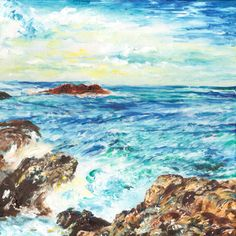 Take a look at this recent entry to our competition by Debbie Cullis - Paint a seascape or harbour scene to win copies of David Bellamy books from Search Press Painting Competition, Seascape Paintings, Twilight, Waves, Scene, Gallery, Illustration, Artist, Outdoor