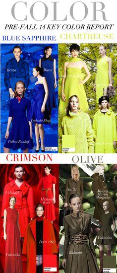 Trend Council:  Color, Pre-Fall 14 Key Color Report