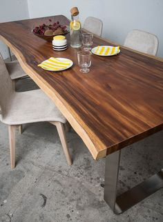 Design table by SUN WOOD Design Tisch, Design Table, Wood Design, Wood Resin Table, Wood Table, Into The Woods, Innovative Products, Wood Species, Diy Woodworking