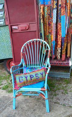 raggedy GYPSY pillow vintage southwestern by TheSleepyArmadillo