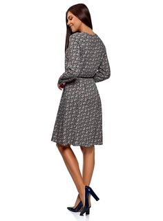 oodji Collection Women's Belted Viscose Dress: Amazon.co.uk: Clothing Viscose Dress, Belts For Women, Dresses For Work, Amazon, Clothing, Collection, Fashion, Outfits, Moda