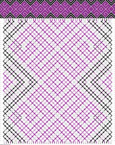 Muster # 49642, Streicher: 52 Zeilen: 58 Farben: 4
