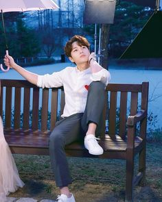 Image may contain: 1 person, sitting, child and outdoor Korean Couple Photoshoot, Oh My Ghostess, Kim Myungsoo, Korean Tv Series, K Drama, L Infinite, Lee Sungyeol, Park Hyung, Song Joong
