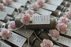 MINT TO BE bridal shower or wedding favors. You will receive the favors completely assembled and ready
