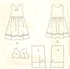 Handmade by Juliana Melo: Ref: 127 - Molde children's dresses