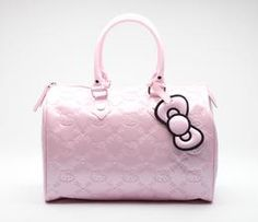 Hello Kitty Pink Handbag: Embossed