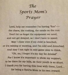 A prayer to all my baseball moms!